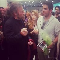 Eli Roth con Franco Nero